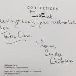 Thank you card (back) - Cindy Callahan