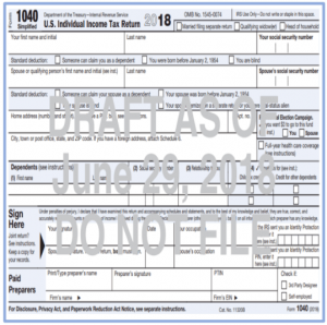 Financial 1 - Draft Form 1040