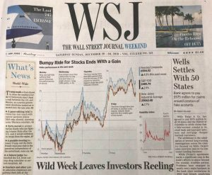WSJ Front Page Feature