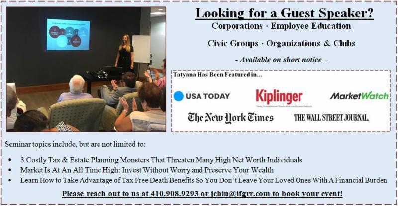 Guest Speaker Tatyana Bunich, Financial 1