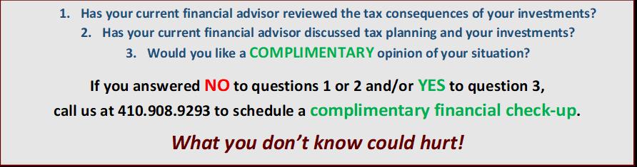 Complimentary Financial Checkup