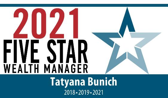 Five Star Award Winner, 2021 - Tatyana Bunich