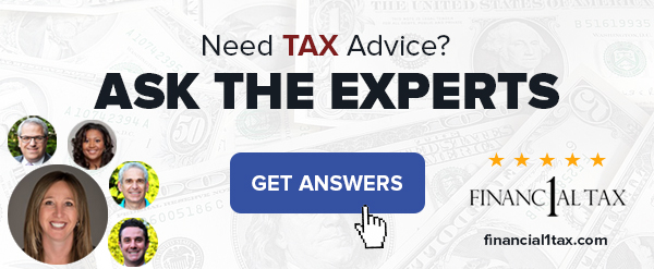 Financial 1 Tax: Ask the Experts