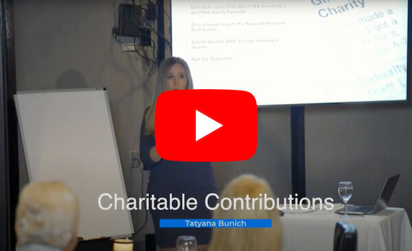 Video: Charitable Contributions, Financial 1 Tax